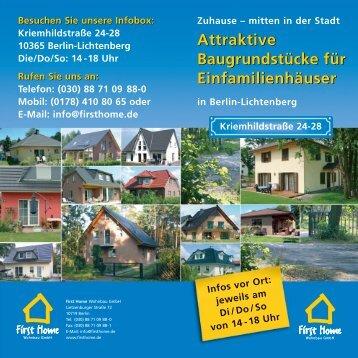 Flyer zum Projekt - First Home