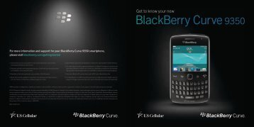 Get to know your new BlackBerry Curve 9350 - US Cellular