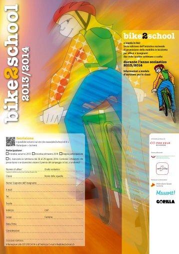 Flyer informativo e iscrizione per classi - Bike2school
