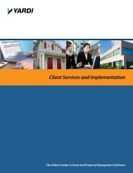 Client Services and Implementation - Yardi