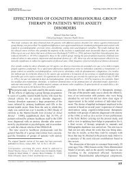 effectiveness of cognitive-behavioural group therapy in