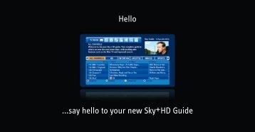 Sky+HD Quick Guide - Sky.com