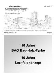BAG Mitteilungsblatt 02-2009 - BAG Bau Holz Farbe