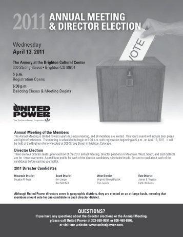 ballot packets - United Power