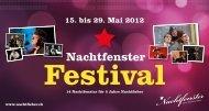 NACHTFENSTER FESTIVAL Mittwoch, 23. Mai 2012 ... - Jazz in Olten