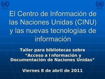 y las nuevas tecnologías de información, Sharon - CINU