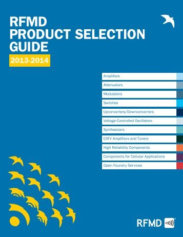 RFMD PRoDuct Selection GuiDe - RF Micro Devices
