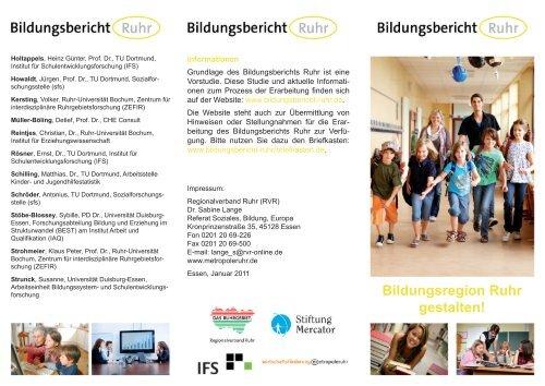 Bildungsbericht Ruhr - Flyer - Metropole Ruhr