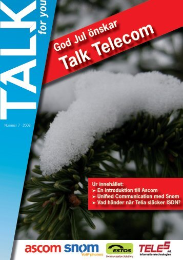 Talk for you 7 - 2009 // Senaste nytt om SIP och IP-telefoni