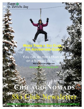 March 2012 Nomad Newsletter - Chicago Nomads Ski Club