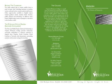 English Brochure (PDF) - Virginia Wesleyan College