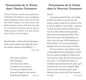 Trinite - Canadian Bible Society