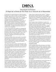 Documento de Postura: El Papel de la Doula de Post Parto en la ...