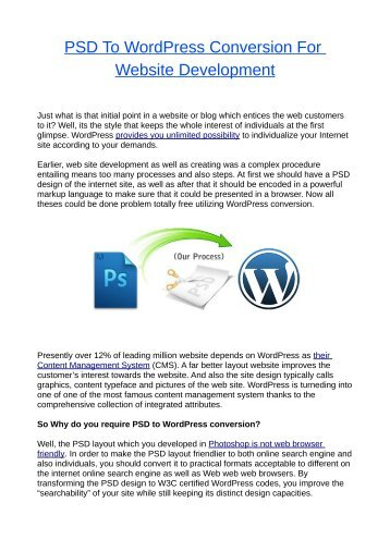 PSD To WordPress Conversion For Website Development