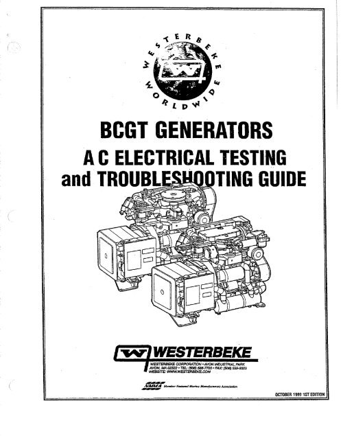 A.C. Electrical Testing and Troubleshooting Guide - Westerbeke on