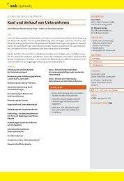 Kauf und Verkauf von Unternehmen - NWB Verlag