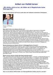Vielfalt lernen – Interview mit Prof. Preuss-Lausitz - school is open