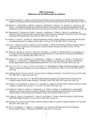 WP3 Reference List All References Air pollution - VGGM