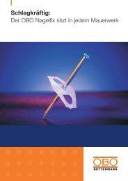 PDF Datei: Broschüre / OBO / Prospekt VBS nagelfix