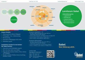 Lernforum Sabel Nürnberg. Unterstützung bei Legasthenie, Dyskalkulie, Leseschwäche, Rechenschwäche, Schreibschwäche