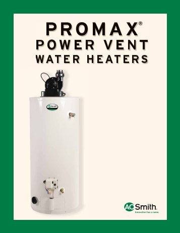 ProMax Power Vent - AO Smith Water Heaters