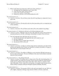 Raven/Johnson Biology 8e Chapter 04 - Answers 1. Which of the ...