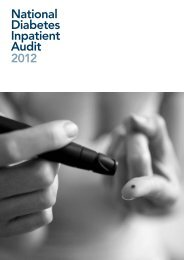 National Diabetes Inpatient Audit 2012 (pub 27 June 2013, pdf) - HQIP