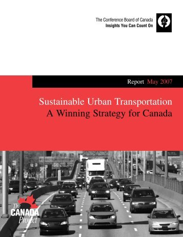 170-07 Sustainable Urban Transportation: A Winning Strategy for ...