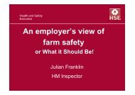 An employer's view of farm safety