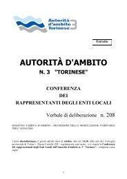 Tariffa servizio idrico integrato - Comune di Verolengo