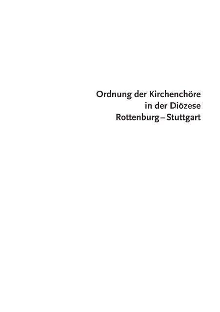 Ordnung der Kirchenchöre - Amt für Kirchenmusik