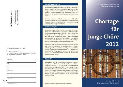 Chortage für Junge Chöre 2012 - Amt für Kirchenmusik