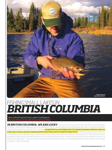 BrItIsh ColumBIa - Freshwater Fisheries Society of BC