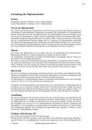 Gestaltung der Diplomarbeiten - Medizinische Universität Graz