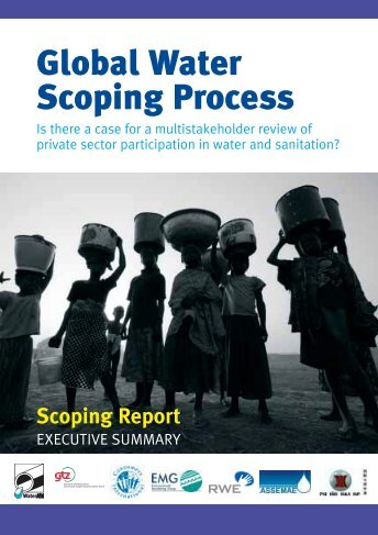 Global Water Scoping Process: Is there a case for a multi ... - WaterAid