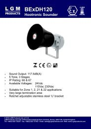 BExDH120 Sounder Electro-Mechanical ... - LGM Products Ltd