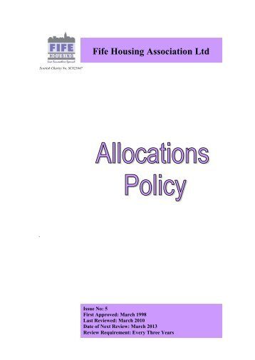 Allocations Policy - Fife Housing Association