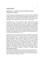Montessori`s scientific concept of education and the integration of ...