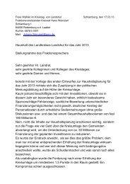 Haushaltsrede2013 - Freie Wähler Landkreis Landshut