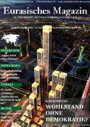 Eurasisches Magazin – April 2009 · Seite 1 © Eurasischer Verlag ...