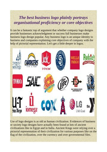 The best business logo plainly portrays organisational proficiency or core objectives.pdf