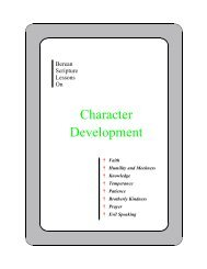 Berean Lessons on Character Development - Bible Students Online