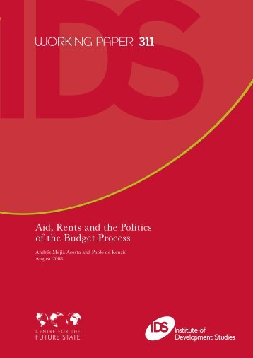3067 IDS WORKING PAPER 311.ps - International Budget Partnership