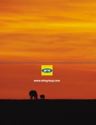 (formely M-Cell Limited) - Sustainability Report 2003 - MTN Group