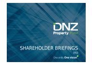 SHAREHOLDER BRIEFINGS - DNZ Property Fund