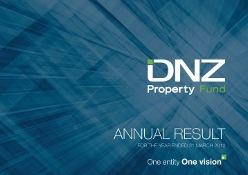 DNZ Annual Results Presentation for the year ended 31 March 2012