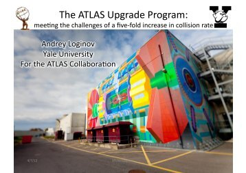 The ATLAS Upgrade Program: - HEP2012