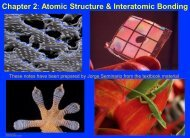 Atomic structure, bonding