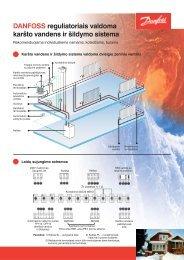 DANFOSS reguliatoriais valdoma karšto vandens ir šildymo sistema