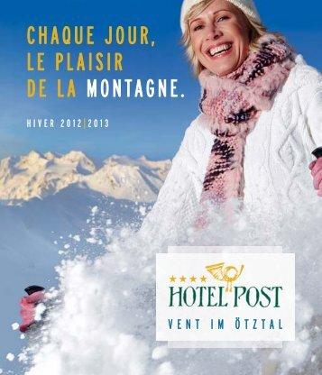 Tarifs hiver 2012 - Hotel Post Vent